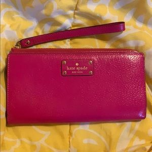 kate spade Accessories - Used Kate Spade New York hot pink wallet